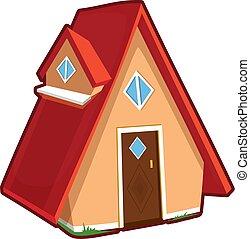 illustration, vecteur, maison