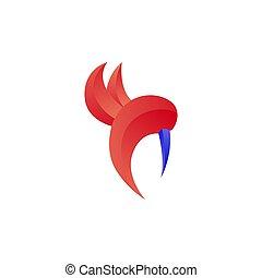 illustration, vecteur, oiseau, gabarit, conception