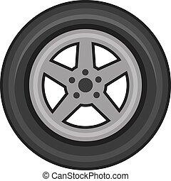 illustration, vecteur, pneu