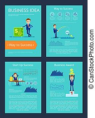 illustration, vecteur, récompense, idée, business