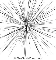 illustration vector abstract manga speed motion black starburst straight lines.