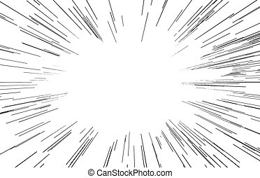 illustration vector abstract speed motion black lines with copyspace in the middle.