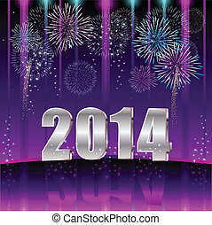 Happy New Year 2014 - Illustration vector background, Happy ...