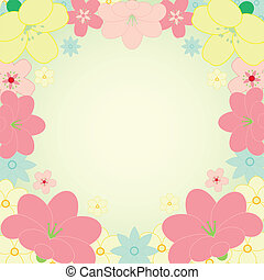 vector card with flower frame