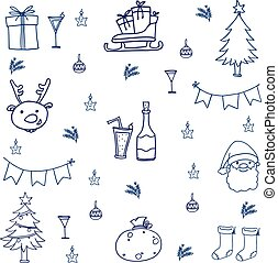Illustration vector christmas set