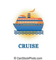 Illustration vector cruise ship