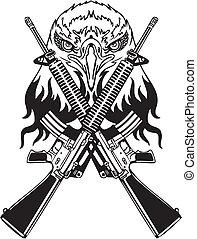 illustration., -, vector, diseño, vinyl-ready, militar