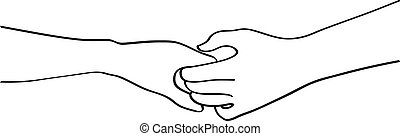 illustration vector doodles hands holding
