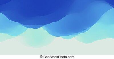 illustration., vector, fondo., cielo, clouds., naturaleza, ...