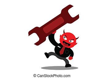 evil businessman - illustration vector graphic cartoon ...