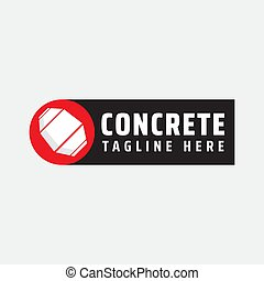 Illustration Vector Graphic Of Concrete Mixer Logo Design Template. Suitable For Construction Company, Real Estate Or Etc. Simple, Minimal And Easy To Edit