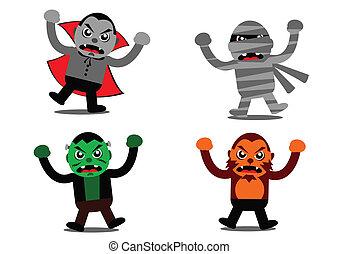 Halloween Monster Cartoon Character