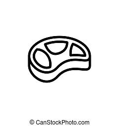 Illustration Vector graphic of meat icon template