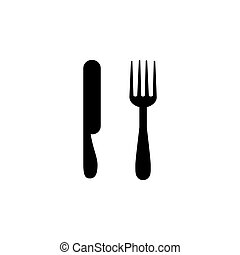 Illustration Vector graphic of spoon, fork, knife icon