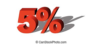 Illustration Vector Graphic Sale Percent 5