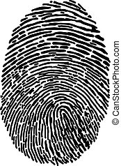 illustration vector hand draw doodles of black isolated fingerprint on white background