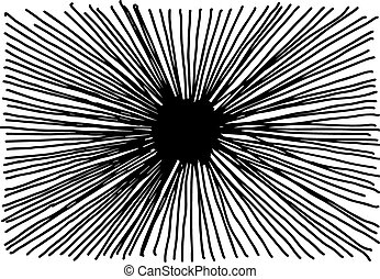 illustration vector hand drawn doodle of starburst isolated on white background.