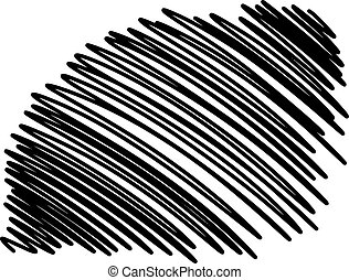 illustration vector hand drawn doodles of scribble smears lines, abstract background