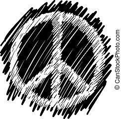 doodles of peace symbol