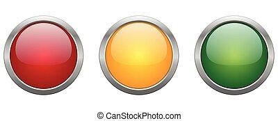 Illustration Vector Icon Modern Button