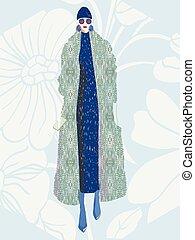 illustration., vector, moda