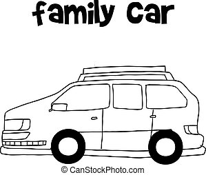 Illustration vector of family car