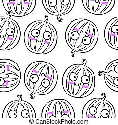 Illustration vector of fruit doodle style