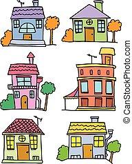 Illustration vector of house set