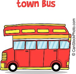 Illustration vector of town bus