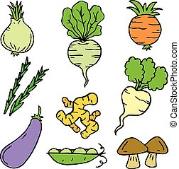 Illustration vector of vegetable set