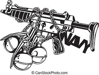 illustration., -, vector, ontwerp, vinyl-ready, militair