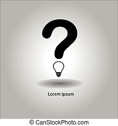 illustration vector question mark with bulb instead of the...