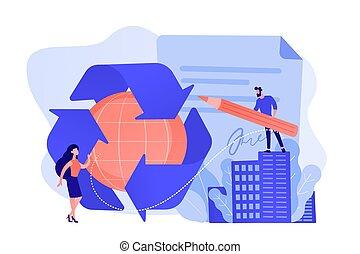 illustration., vector, regering, mandated, concept,...