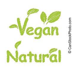 Vegan and Natural Green Texts