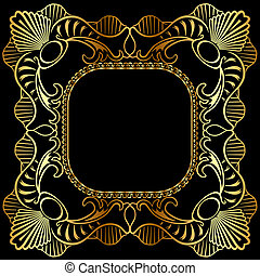 winding gold pattern frame