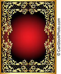 vegetable winding gold  pattern frame
