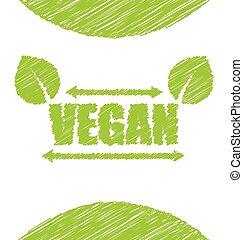 Vegetarian Green Text Label