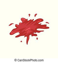 illustration, vektor, blod, bakgrund, det stänker, vit