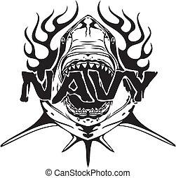 illustration., -, vektor, design, marine, militaer