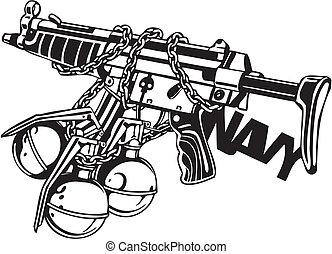 illustration., -, vektor, design, vinyl-ready, válečný