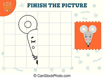 illustration., vektor, komplet, kopi, blank, boldspil, billede