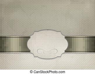 illustration., vendange, cadre, ornement, vecteur, fond