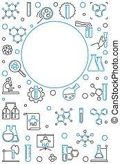 illustration., vertical, chimique, vecteur, fond, ligne, chimie