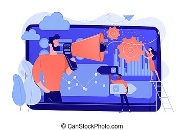 illustration., vetorial, conceito, dirigido, marketing,...