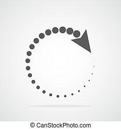 illustration., vettore, arrow., cerchio, riciclaggio
