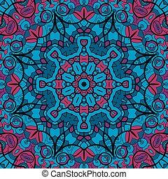 illustration., vindima, pattern., seamless, textura, fundo, arabesco, vector., tecido