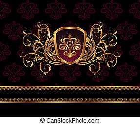 vintage background with floral frame