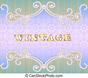 Vintage background with ornament made ??of precious stones