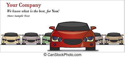 illustration, voiture, vente, mieux