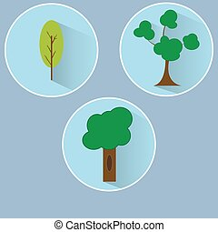 B?ume - Illustration von drei B?umen